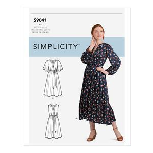 Simplicity Misses' Front Tie Dress - Sizes 16-24 USA (UK 24-28)