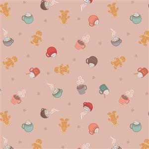 Lewis & Irene in Hot Chocolate Pink Fabric 0.5m