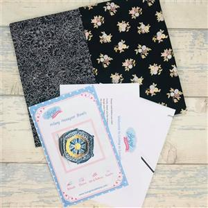 Living in Loveliness Hilary Hexagon Stacking Trays Kit Black; includes 2 x 0.5m Liberty Fabrics