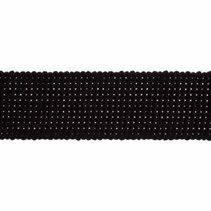 Essential Trimmings Black Cotton Webbing 1m