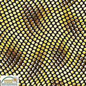 Quilters Coordinates Psychedelic Yellow Dots Pre-cut Fabric 2.5m