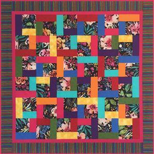 Village Fabrics Tropical Flowers Lap Quilt - Black