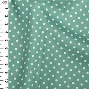 Rose and Hubble Cotton Poplin Spots on Ice Green Fabric 0.5m