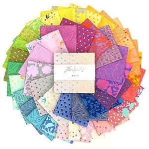 """Tula Pink True Colours 5"""" Charm Pack of 42 Pieces"""