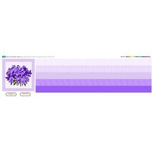 February Flower of the Month Violet Fabric Panel (140 x 40cm)