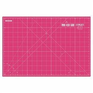 Olfa Pink Self Healing Cutting Mat: 42.5 x 27.5cm (18x 12in)