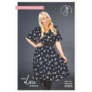 The Pattern Preacher Olivia Dress Pattern. Sizes 6-20