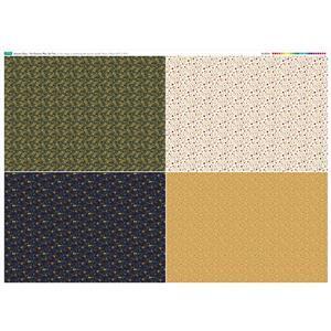 Autumn Days Fat Quarter 2 Fabric Panel 140x105cm