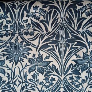 William Morris Granada in Bluebell Indigo Fabric 0.5m