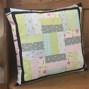 Village Fabrics Pastel Rail Fence Cushion Kit