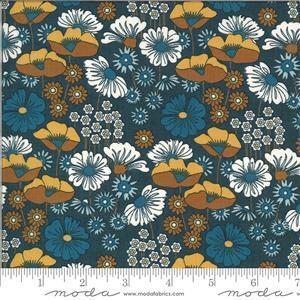 Moda Cider Floral Blue Fabric 0.5m