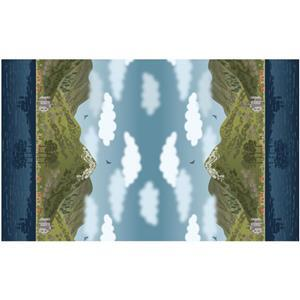 Lewis & Irene Loch Lewis Double Border Print Fabric 0.5m