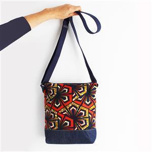 Sewgirl Boho Orange & Mustard Star Flower Bag Kit