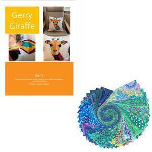 Delphine Brooks' Kaffe Gerry Giraffe Cushion Bundle: Instructions & Design Roll