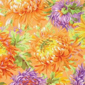 Kaffe Fassett Classics Parakeet Bright Chrysanthemums Fabric 0.5m