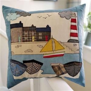 Helen Newton's The Harbour Cornwall Cushion Kit: Instructions, Fabric Panel, FQ & Fabric (0.5m)