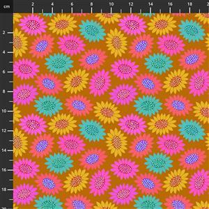 Anna Maria Horner Bright Eyes in Picky Gold Fabric 0.5m