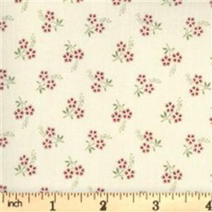 Moda Jardin De Fleurs in Cream Daisy Fabric 0.5m