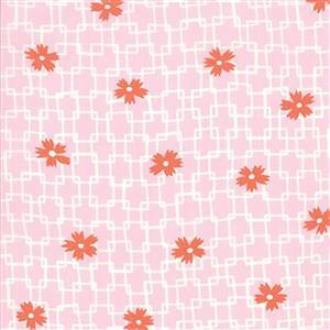 Moda Fine & Sunny Rose Oil Geometric Flowers Fabric 0.5m