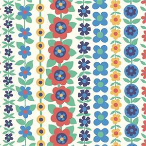 Liberty Carnaby Collection Soho Stripe Primary Fabric 0.5m