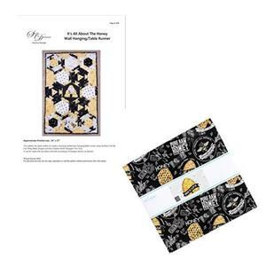 Suzie Duncan's Bees Life Hexagonal Table Runner Kit: Instructions & 10 Inch Stacker