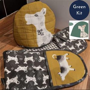 Debbie Shore's Green Cow Creamer Kitchen Set Kit - Instructions & Panel