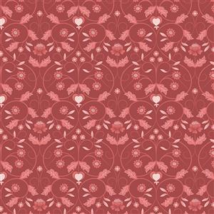 Lewis & Irene in Flower Buds Red Fabric 0.5m