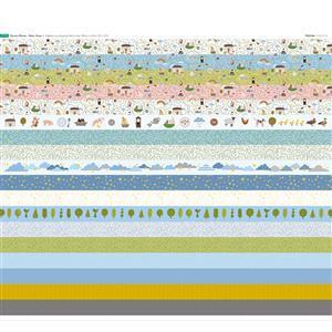 Nursery Rhyme Strips Fabric Panel (70 x 122cm)