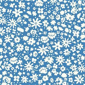 Liberty Carnaby Collection  Bloomsbury Silhouette Blue Fabric 0.5m
