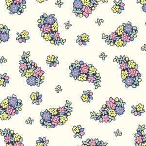 Liberty Carnaby Collection Portobello Paisley Pastel Fabric 0.5m