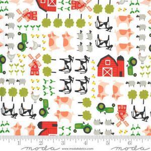 Moda On The Farm - Farmland - Cream Fabric 0.5m