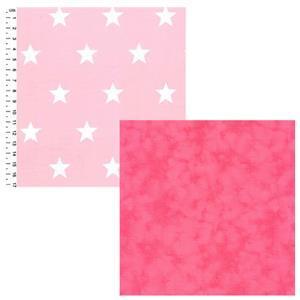 Creative Grids Pink Stars Fabric Bundle (1m)