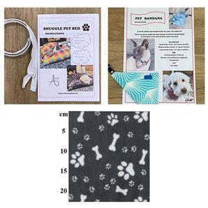 Allison Maryon's Grey Pet Snuggle Bed Kit with Zip & 1m Fleece + Bandana Instructions