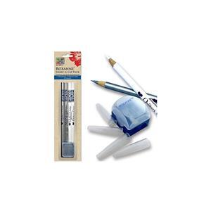 Bird Special  Colonial Roxanne Quilters Pencil Set - Pencils, Sharpener & Caps. Save £3