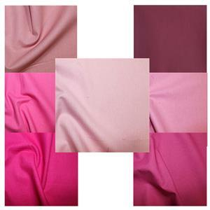 Early Bird Special - All the Pinks 100% Cotton FQ Pack - 7 Pieces. 1 FQ FREE