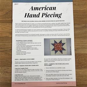 Emma Bradford American Hand Piecing Instructions