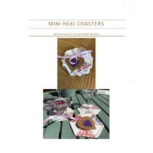 Mini Hexi Coasters Instructions and Template by Delphine Brooks