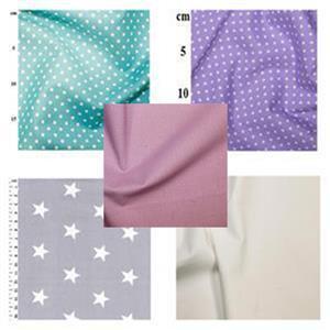 Turquoise & Lilac Star Baby Playmat Bundle: FQ (4pcs) & Fabric (1.5m)
