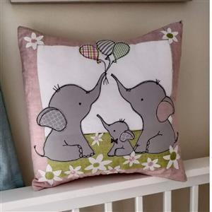 Helen Newton's Elephant Nursery Cushion Kit, Instructions, Fabric Panel, Fabric (0.5m) & FQ