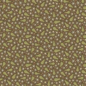 Anni Down On the 12th Pears Brown Fabric 0.5m