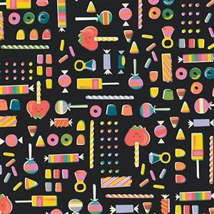 Riley Blake Tiny Treaters Charcoal Sweet Fabric 0.5m