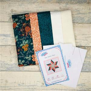 Living in Loveliness Star Centre Piece Kit, Fabric & Pattern - Liberty Green