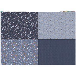 Dog Design 4 x Fat Quarters Panel (140 x 107cm)