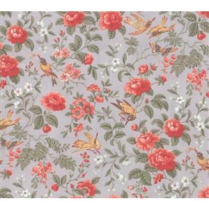 Moda Daybreak Aviary on Silver Fabric 0.5m