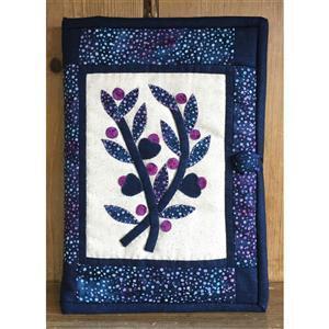Village Fabrics Blue Batik Book Cover, Including A5 Notebook