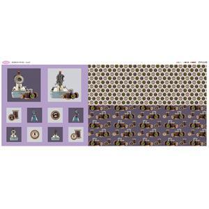 Debbie Shore's Lilac Bobbins Fabric Panel (140cm x 63cm)