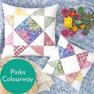 Alice Caroline Liberty Wiltshire Star Cushion Kit Pinks (makes 2)