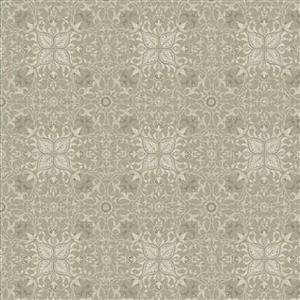 William Morris Mineral Light Grey 4 Leaf Fabric 0.5m